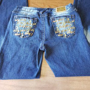 Baby Phat Juniors Size 11 Jeans Embroidered Pocket